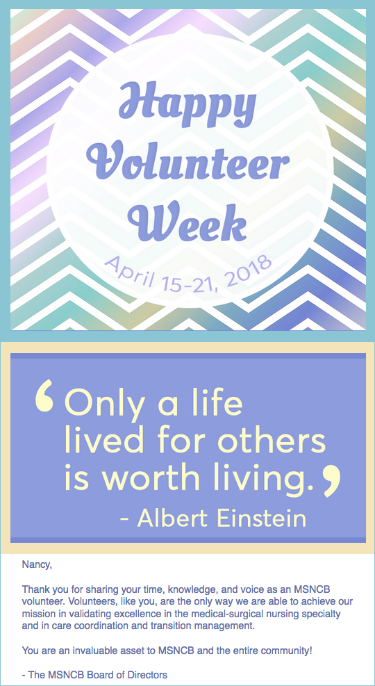 Thank You for Being an MSNCB Volunteer!
